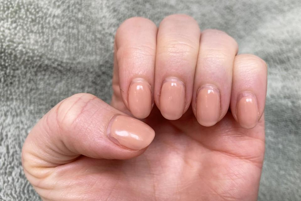 """<p><a href=""""https://www.popsugar.co.uk/beauty/best-at-home-gel-nails-kit-46674523"""" class=""""link rapid-noclick-resp"""" rel=""""nofollow noopener"""" target=""""_blank"""" data-ylk=""""slk:I did my own gel manicure from home"""">I did my own gel manicure from home</a>, and the polish had been on for roughly two weeks.</p>"""