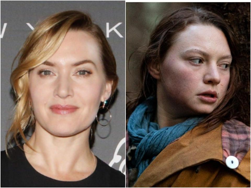 Kate Winslet (left), and Mia Threapleton in Shadows (right) (Getty/Groenlandia)