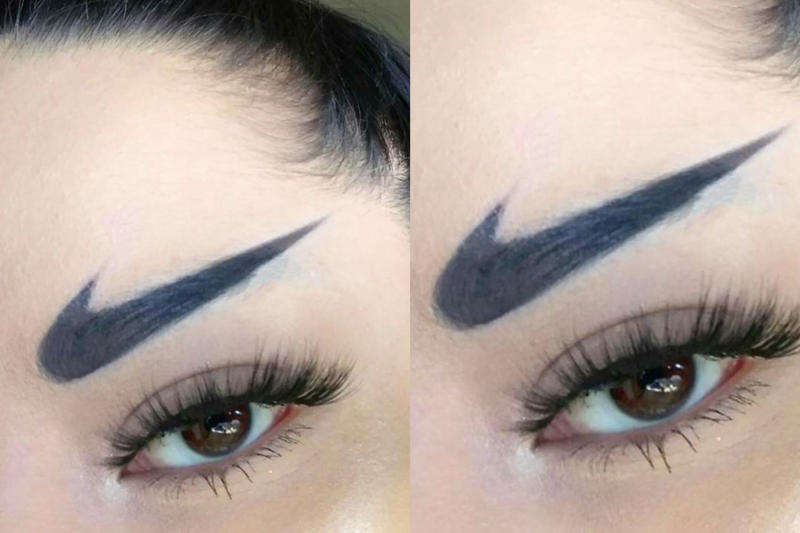 nike swoosh eyebrows are a thing