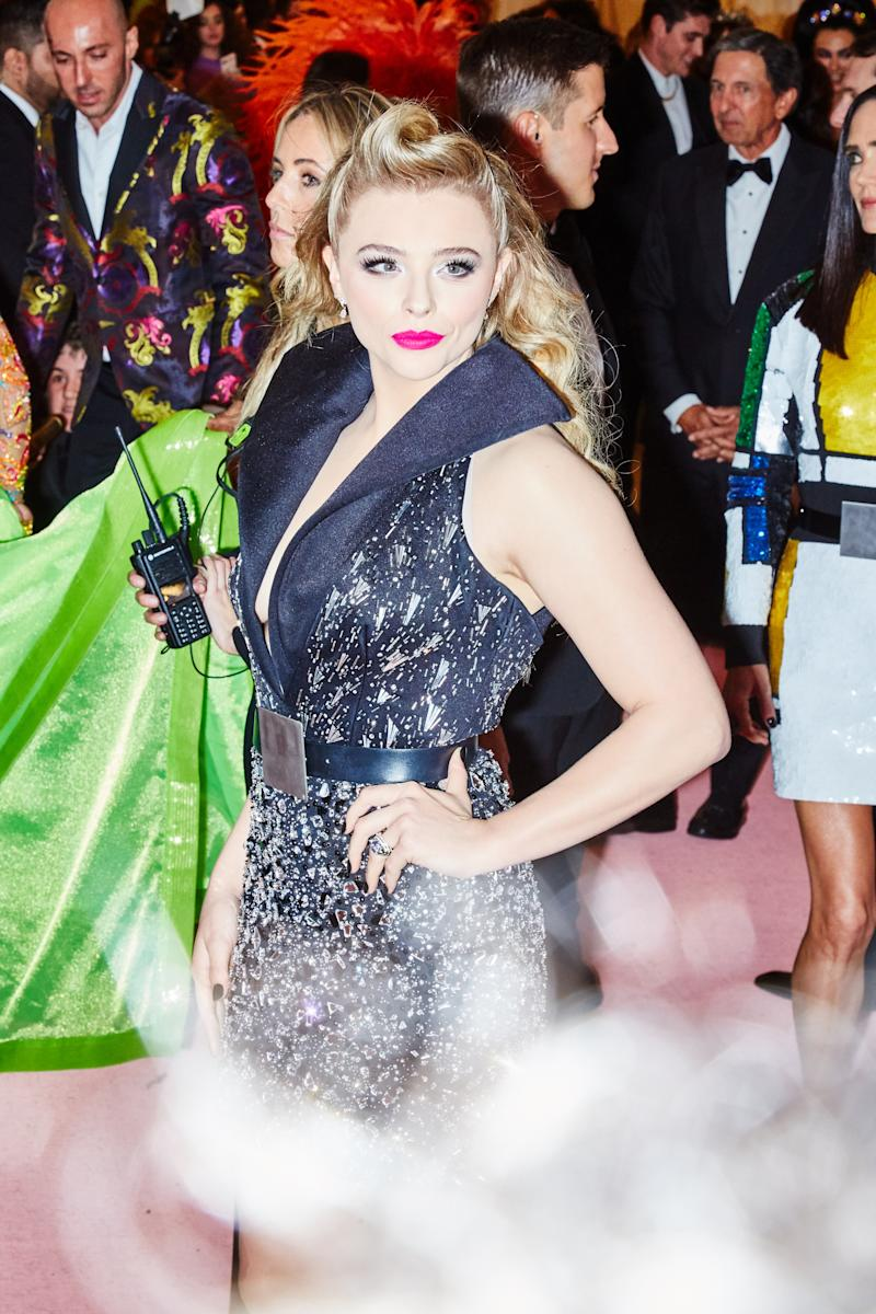 Chloe Grace Moretz on the red carpet at the Met Gala in New York City on Monday, May 6th, 2019. Photograph by Amy Lombard for W Magazine.