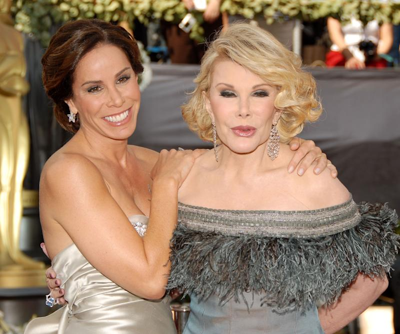 Melissa Rivers and Joan Rivers during the 78th Annual Academy Awards in Hollywood. (KMazur/WireImage)