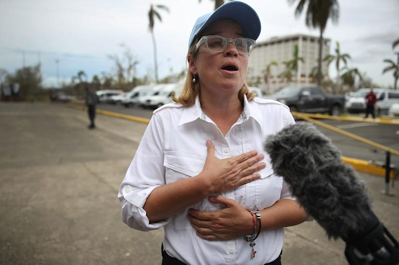 San Juan Mayor Carmen Yulín Cruz has been an outspoken critic of the federal government's response to the hurricane that devastated Puerto Rico. (Joe Raedle/Getty Images)
