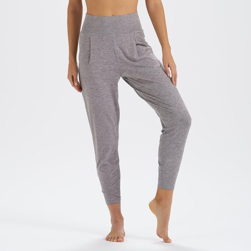 """<p>The not so exaggerated inseam on the Vuori Luxe Harem Pant makes it a more updated option than traditional harem pants. It's made using a moisture-wicking, anti-odor, and UPF fabric that's ideal if you decide to work out in them. </p> <p><strong>Sizes available:</strong> XS to XL</p> <p><strong>$78</strong> (<a href=""""https://vuoriclothing.com/products/womens-lux-harem-clay-heather?variant=32651537743975"""" rel=""""nofollow noopener"""" target=""""_blank"""" data-ylk=""""slk:Shop Now"""" class=""""link rapid-noclick-resp"""">Shop Now</a>)</p>"""