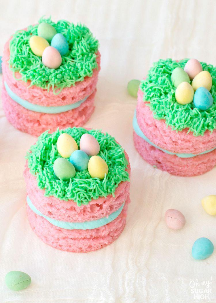"<p>How adorable are these mini pink cakes? Add a little frosting nest on top and dot with chocolate eggs for a cute look.</p><p><strong>Get the recipe at <a href=""https://ohmysugarhigh.com/mini-easter-cakes/"" rel=""nofollow noopener"" target=""_blank"" data-ylk=""slk:Oh My! Sugar High"" class=""link rapid-noclick-resp"">Oh My! Sugar High</a>.</strong></p><p><strong><a class=""link rapid-noclick-resp"" href=""https://go.redirectingat.com?id=74968X1596630&url=https%3A%2F%2Fwww.walmart.com%2Fsearch%2F%3Fquery%3Dpiping%2Btips&sref=https%3A%2F%2Fwww.thepioneerwoman.com%2Ffood-cooking%2Fmeals-menus%2Fg35408493%2Feaster-desserts%2F"" rel=""nofollow noopener"" target=""_blank"" data-ylk=""slk:SHOP PIPING TIPS"">SHOP PIPING TIPS</a><br></strong></p>"
