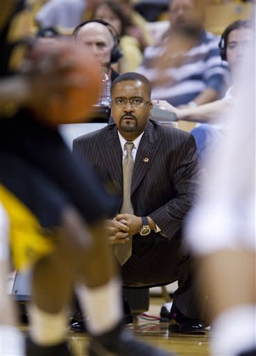 Missouri head coach Frank Haith watches the action during the first half of an NCAA college basketball game against Kennesaw State, Thursday, Dec. 15, 2011, in Columbia, Mo. Missouri won the game 104-67. (AP Photo/L.G. Patterson)