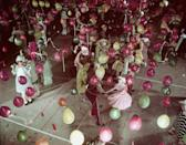 """<p>Although balloons have been popular in the United States since they were <a href=""""https://slate.com/human-interest/2011/12/party-balloons-a-history.html"""" rel=""""nofollow noopener"""" target=""""_blank"""" data-ylk=""""slk:first manufactured in 1907"""" class=""""link rapid-noclick-resp"""">first manufactured in 1907</a>, this decor got a whole new appreciation in the mid-century. </p>"""