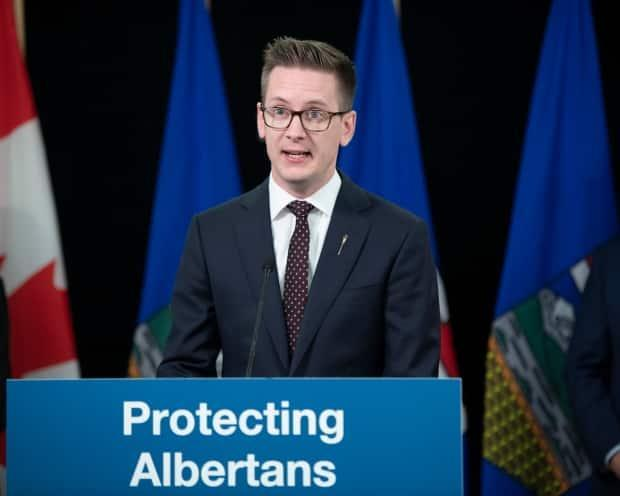 Service Alberta Minister Nate Glubish has introduced legislation to bar dangerous offenders from legally changing their names. (Government of Alberta - image credit)
