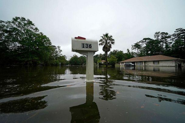 PHOTO: A flooded neighborhood is seen after Tropical Storm Claudette passed through in Slidell, La., June 19, 2021. (Gerald Herbert/AP)