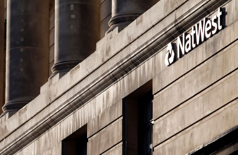 FILE PHOTO: A branch of NatWest Bank is seen in the City of London