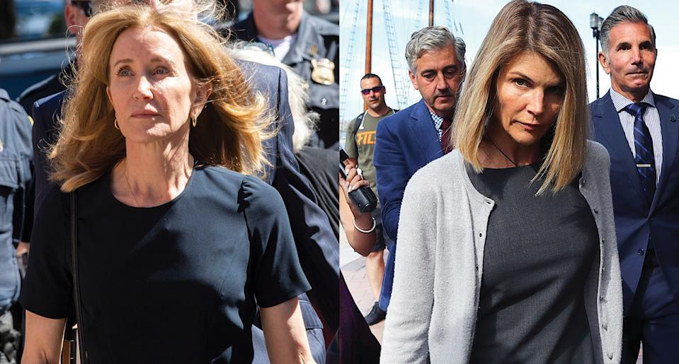 Felicity Huffman has been charged with 14 days in prison for the college admissions scandal. Here's what this means for Lori Loughlin, according to lawyers. (Photo: Getty Images)