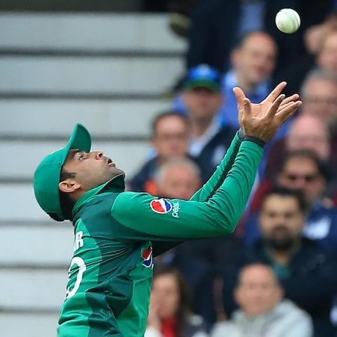 <span>Fakhar drops Roy and gives England's destructive opener a life  </span> <span>Credit: Lindsey PARNABY/AFP </span>