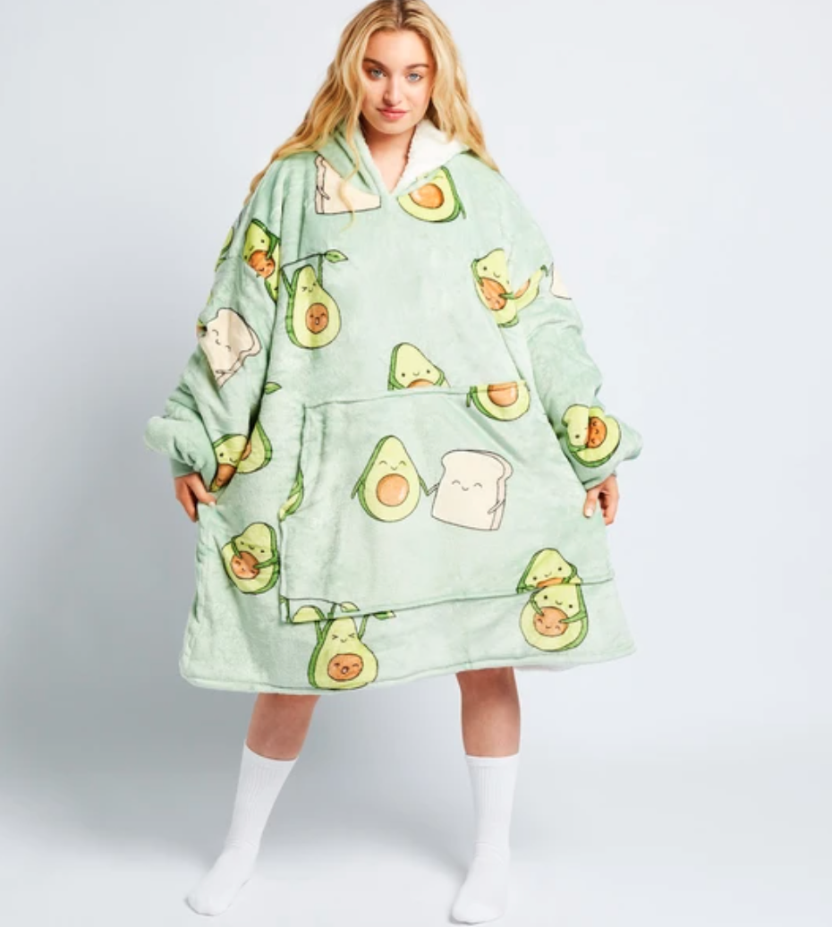 avocado-themed hooded blankets from Oodie