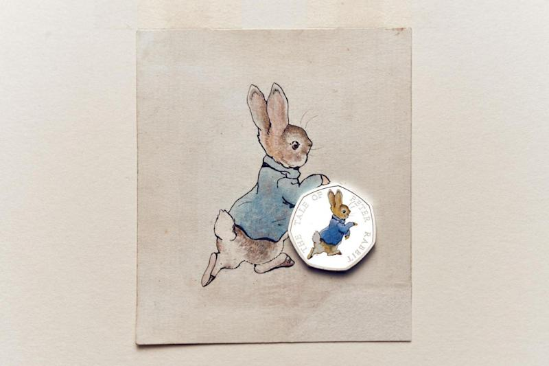 On sale: The Peter Rabbit coin went on sale on the Royal Mint website on Monday
