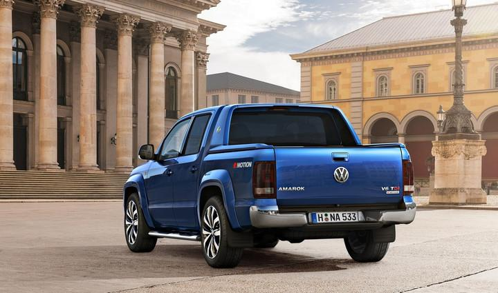 """<p>The mid-size pickup truck segment in Europe is growing at an unprecedented pace. Volkswagen is preparing for the arrival of new entrants like Renault and PSA Peugeot-Citroën by updating the rugged Amarok.</p> <p>The visual updates made to the Amarok are more evolutionary than revolutionary, which is consistent with what we've come to expect from Volkswagen in recent years. Eagle-eyed observers will notice the truck receives redesignedheadlights, a revised lower bumper with honeycomb inserts, and new-look alloy wheel designs. The cabin benefits from a new dashboard, but we'll have to take Volkswagen's word on that until official pictures are released.</p> <p>Bigger changes are found by popping the hood. Up until now, the Amarok has exclusively been offered with four-cylinder engines. The Wolfsburg-based carmaker has however managed to shoehorn a 3.0-liter TDI V6 in thetruck's engine bay, giving it more power to tow, haul, or simply go off the beaten path. The six-cylinder is offered with either 163, 204, or 224 horsepower.</p>  <a rel=""""nofollow"""" href='http://www.digitaltrends.com/cars/2016-volkswagen-amarok-news-specs-pictures-towing/attachment/2016-volkswagen-amarok-2/'><img width=""""720"""" height=""""720"""" alt=""""2016 Volkswagen Amarok""""/></a> <a rel=""""nofollow"""" href='http://www.digitaltrends.com/cars/2016-volkswagen-amarok-news-specs-pictures-towing/attachment/2016-volkswagen-amarok-3/'><img width=""""720"""" height=""""720"""" alt=""""2016 Volkswagen Amarok""""/></a>  <p>The Amarok's other gasoline- and diesel-burning engines carry on without any major modifications. Most models are offered with either a manual transmission or an eight-speed automatic, and both rear- and four-wheel drive variants are available. The Amarokcan tow nearly 8,000 pounds in its most capable configuration when it's properly equipped.</p> <p>The updated Volkswagen Amarok will go on sale acrossEurope starting in September. At launch, buyers will be able to order a limited-edition model called Aventura (pictured) th"""