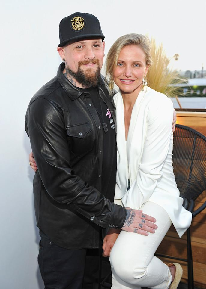 """Diaz has taken a break from acting for five years and she doesn't regret it one bit, thanks to husband Madden.  """"Cameron has never felt happier. She doesn't miss her career at all. She loves married life and just being with Benji,"""" a source told <a href=""""https://people.com/movies/cameron-diaz-loves-married-life-with-benji-madden-he-is-rock/"""">PEOPLE</a>in August.  The couple got <a href=""""https://people.com/celebrity/cameron-diaz-marries-benji-madden/"""">married in an intimate ceremony</a> at their Beverly Hills home in January 2015. Since then, Diaz has sparingly shared details about her blissful marriage. She did, however, gush to <em>InStyle</em> about how married life to Madden changed her for the better.  """"Getting married to him was the best thing that ever happened to me. My husband's the best,"""" Diaz told the outlet for its special <a href=""""https://www.instyle.com/celebrity/cameron-diaz-anniversary-issue"""">25th anniversary issue</a>. """"He's the greatest human being, and he's my great partner."""""""