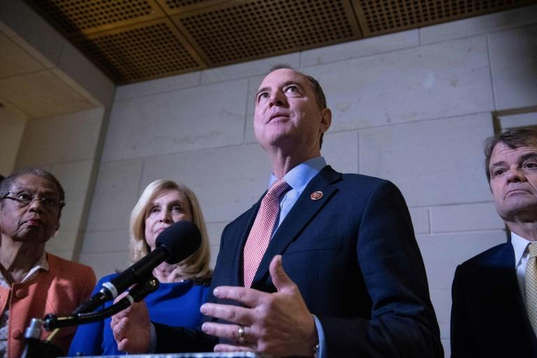 After resisting calls for Donald Trump's impeachment for months, House Intelligence Committee chairman Adam Schiff now says the evidence is strong (AFP Photo/NICHOLAS KAMM)