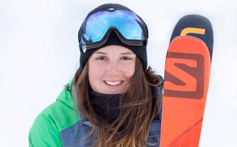 <span>19-year-old skier Molly Summerhayes</span> <span>Credit: Jenny Bletcher </span>
