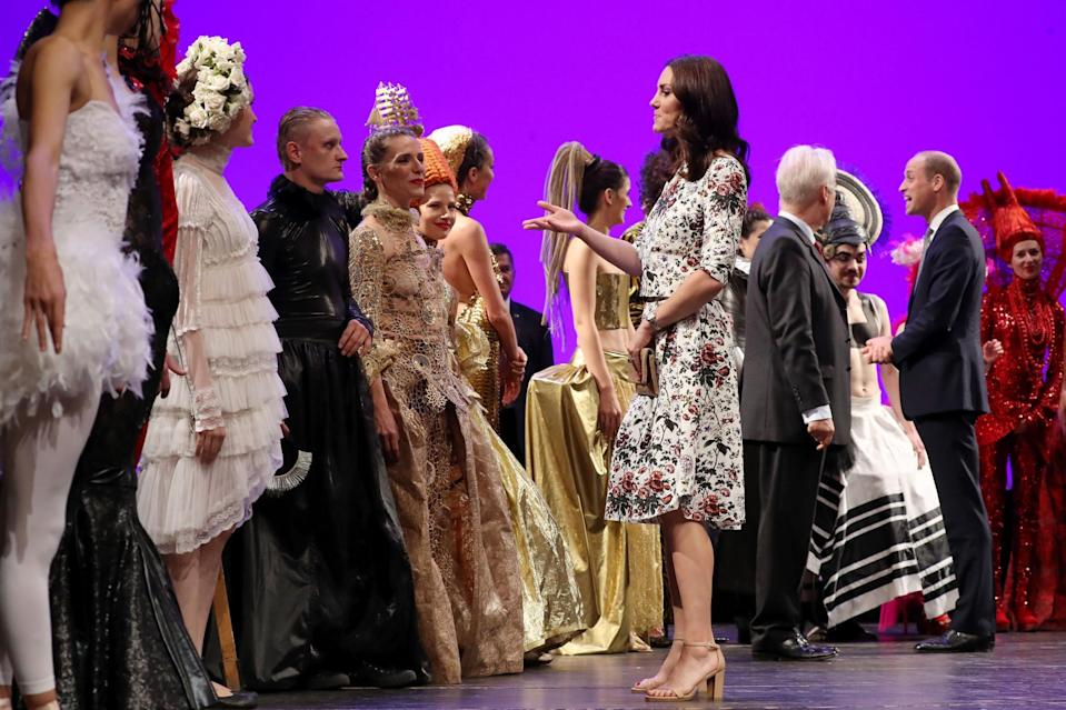 <p><b><b><b>Kate and William were treated to a performance at the Gdansk Shakespeare Theatre.<br> [Photo: PA] </b></b></b></p>