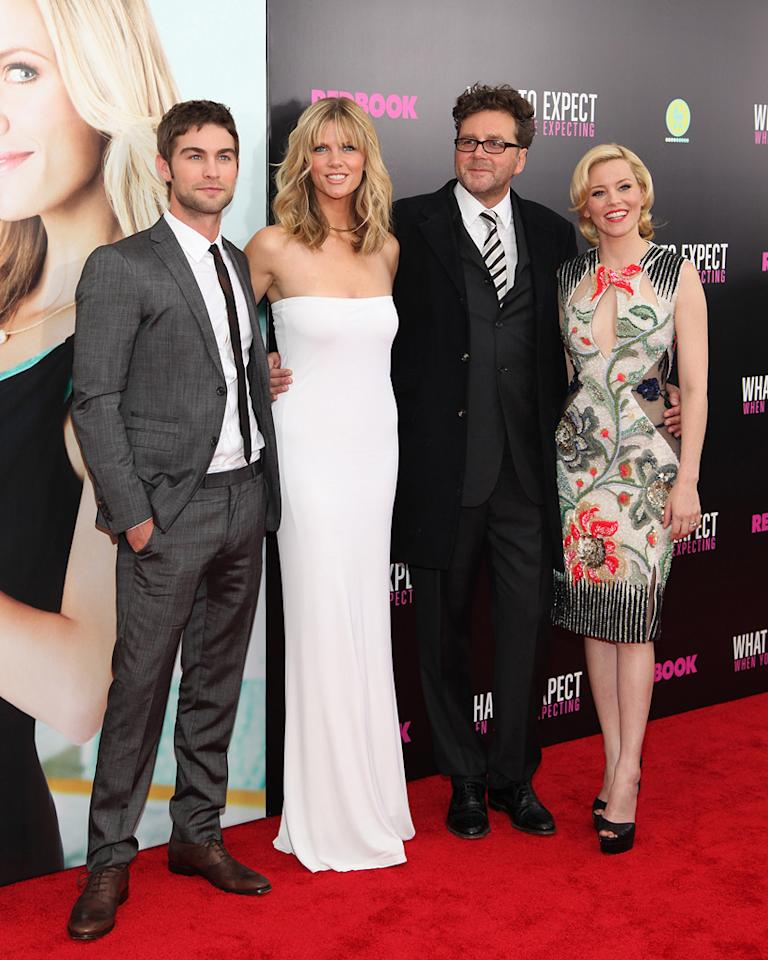 """Chace Crawford, Brooklyn Decker, Kirk Jones and Elizabeth Banks attend the New York City premeire of """"What to Expect When You're Expecting"""" on May 8, 2012."""