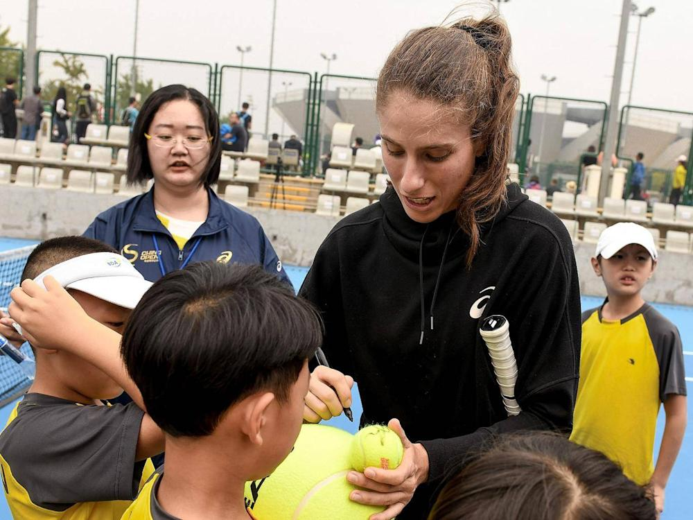 Konta said she's learned how to deal with the pressure of the public spotlight (Getty)