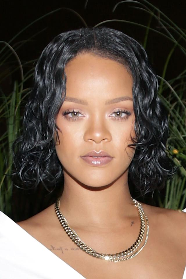 "<p>Rihanna is ever the hair chameleon, changing her hair color and style almost constantly. For fall, Rihanna's one-dimensional, almost midnight-black strands have an unparalleled level of shine. To get that same look, use a clear gloss at home - whether you dye your strands regularly or not. Try John Frieda Luminous Color Glaze Clear Shine ($9.99; <a rel=""nofollow"" href=""http://www.ulta.com/luminous-color-glaze-clear-shine?productId=xlsImpprod620050"">ulta.com</a>), which you can use in the shower in a few minutes flat.</p><p><strong>RELATED: <a rel=""nofollow"" href=""http://www.redbookmag.comhttp://www.redbookmag.com/beauty/hair/advice/g634/short-hair-how-to-hairstyles/"">75 Cute Short Hairstyles - And How to Pull Them Off</a><span><a rel=""nofollow""></a></span></strong><br></p>"