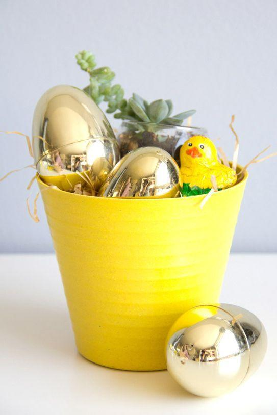 """<p>This clever Easter basket is ideal for adults who love home decor (succulents, especially) as much as they love chocolate. </p><p><em><a href=""""http://lovelyindeed.com/diy-grownup-easter-basket/"""" rel=""""nofollow noopener"""" target=""""_blank"""" data-ylk=""""slk:Get the tutorial from Lovely Indeed »"""" class=""""link rapid-noclick-resp"""">Get the tutorial from Lovely Indeed »</a></em> </p>"""