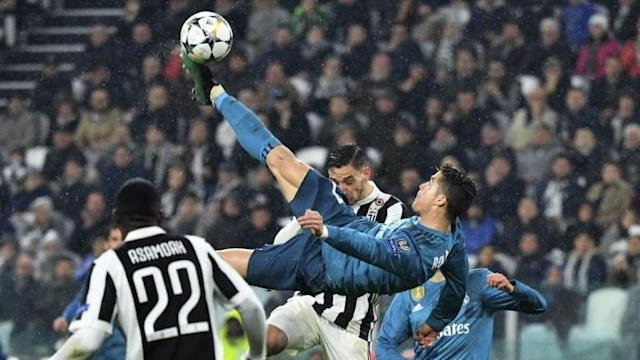 Real Madrid manager Zinedine Zidane calls Cristiano Ronaldo's breathtaking overhead bicycle kick 'one of the most beautiful goals in the history of football' at a presser following the first leg of the Champions League quarter-finals which saw Real Madrid bury Juventus 3-0.
