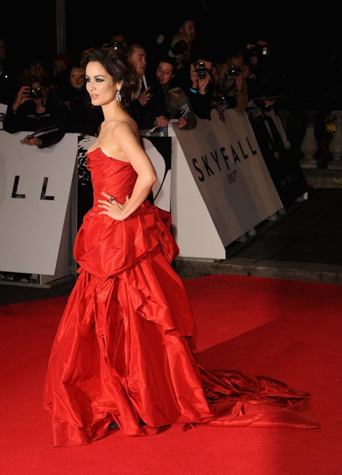 LONDON, ENGLAND - OCTOBER 23:  Berenice Marlohe attends the Royal World Premiere of 'Skyfall' at the Royal Albert Hall on October 23, 2012 in London, England.  (Photo by Eamonn McCormack/Getty Images)