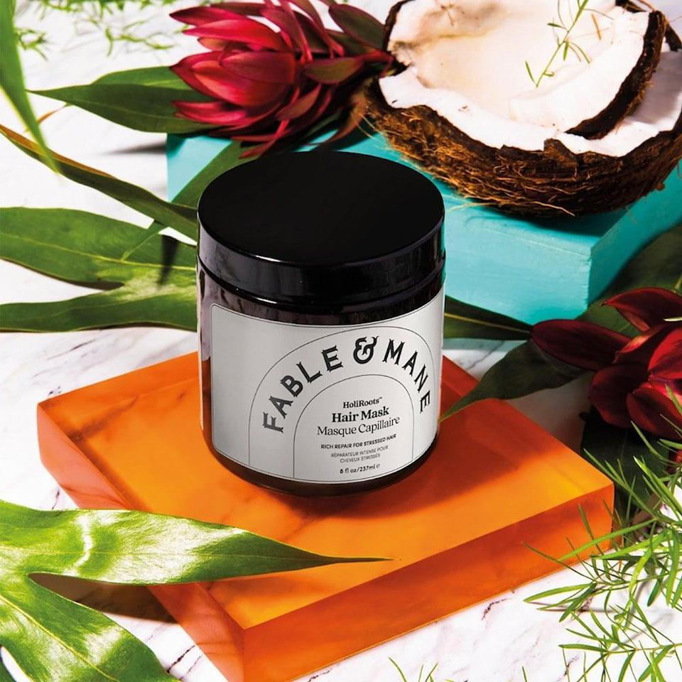 <p>The <span>Fable &amp; Mane HoliRoots Repairing Hair Mask</span> ($32) is formulated with coconut cream, mango butter and banana. It protects against breakage, damaged ends and fights frizz leabing hair feeling soft and silky.</p>