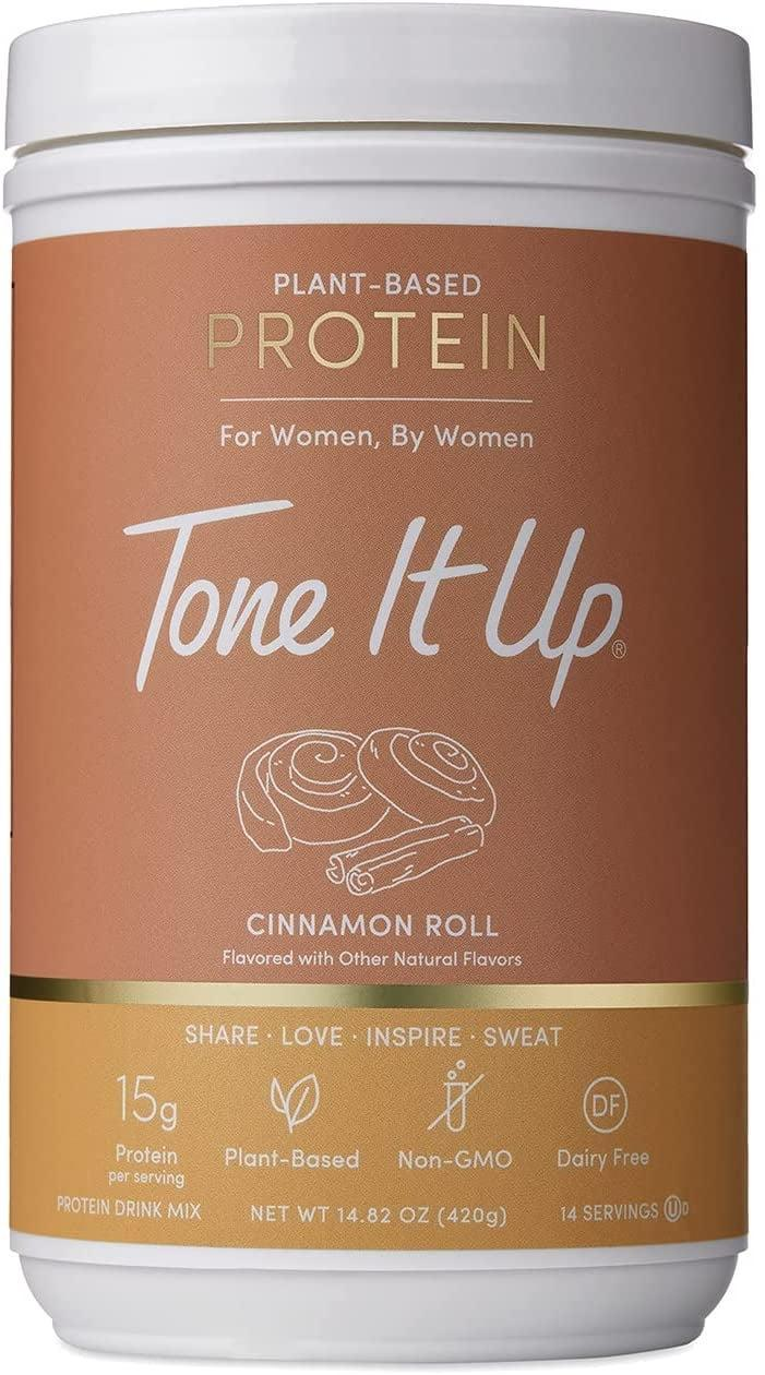 <p>Feel warm and cozy with this <span>Tone It Up Cinnamon Roll Protein Powder</span> ($24). It offers 15 grams of plant-based protein for 120 calories. </p>