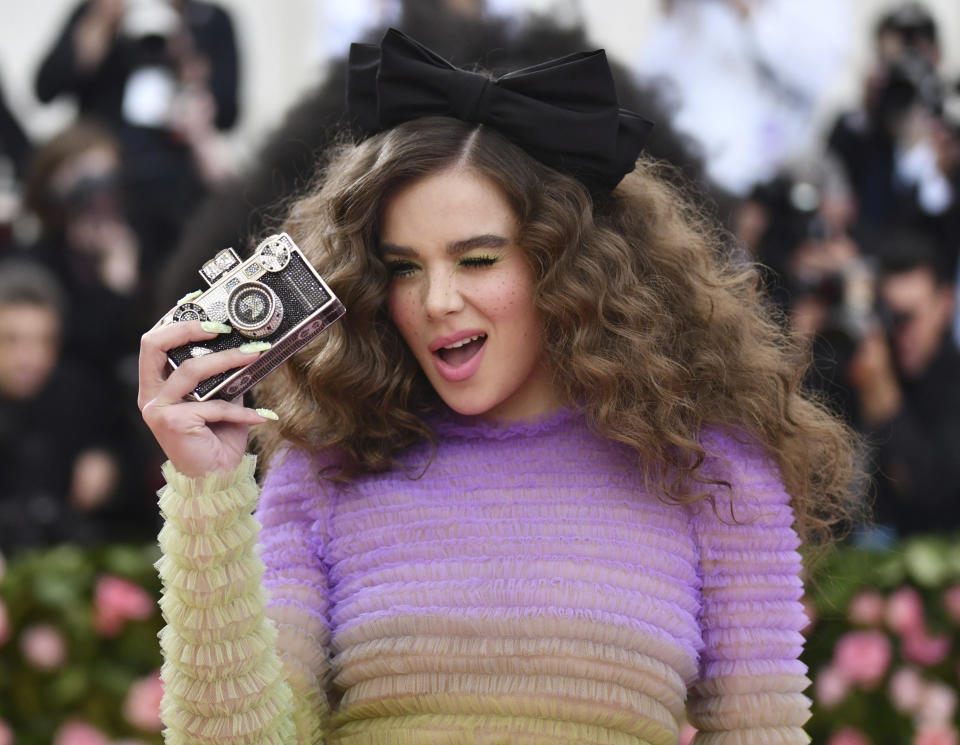 """Hailee Steinfeld attends The Metropolitan Museum of Art's Costume Institute benefit gala celebrating the opening of the """"Camp: Notes on Fashion"""" exhibition on Monday, May 6, 2019, in New York. (Photo by Charles Sykes/Invision/AP)"""