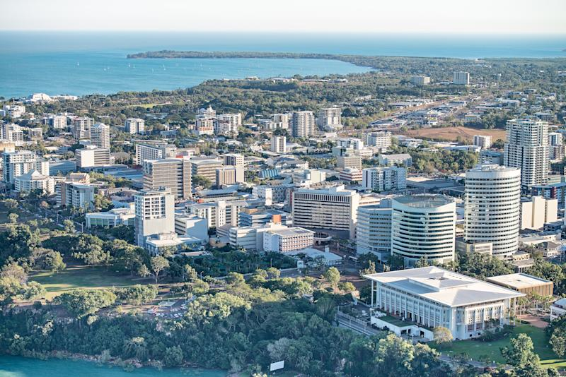 Aerial shots of Darwin city