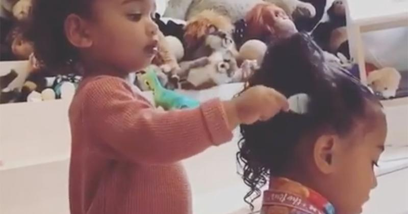 Kim Kardashian Shares Sweet Video of Daughter Chicago Combing Her
