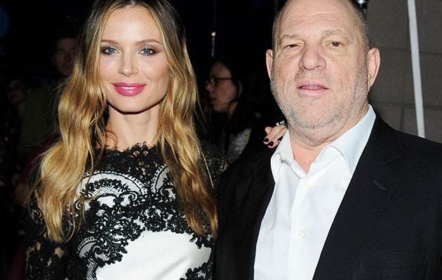 Harvey and his wife Georgina Chapman, who has since announced she is leaving him. Source: Getty
