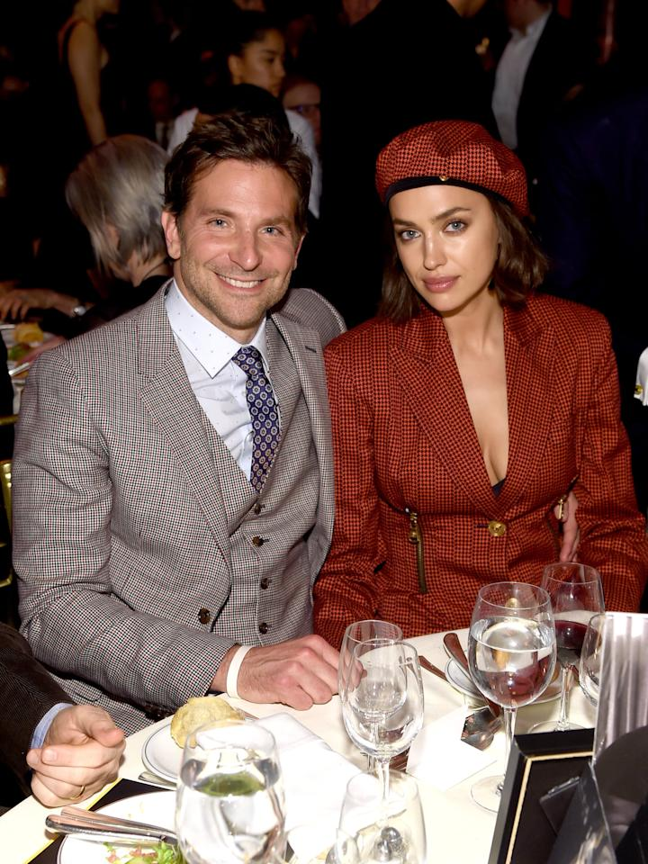 """<p>After four years together, <a href=""""https://www.popsugar.com/celebrity/Bradley-Cooper-Irina-Shayk-Break-Up-46243206"""" target=""""_blank"""" class=""""ga-track"""" data-ga-category=""""Related"""" data-ga-label=""""https://www.popsugar.com/celebrity/Bradley-Cooper-Irina-Shayk-Break-Up-46243206"""" data-ga-action=""""In-Line Links"""">Bradley and Irina split in June</a>. The 44-year-old actor and 33-year-old supermodel share a 2-year-old daughter, Lea De Seine, and they are <a href=""""https://people.com/movies/bradley-cooper-irina-shayk-split/"""" target=""""_blank"""" class=""""ga-track"""" data-ga-category=""""Related"""" data-ga-label=""""https://people.com/movies/bradley-cooper-irina-shayk-split/"""" data-ga-action=""""In-Line Links"""">""""amicably working out"""" how to share custody of her</a>, according to <strong>People</strong>.</p>"""