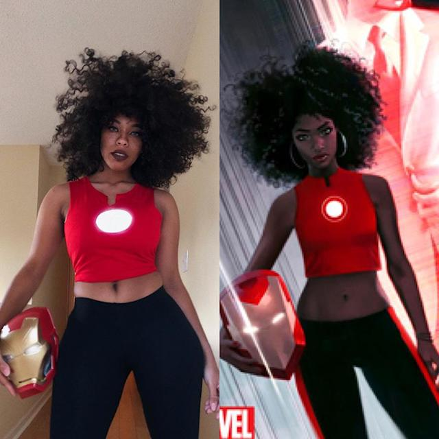 Kiera Please cosplaying Riri Williams from <em> Ironheart</em>. (Photo: Courtesy of Kiera Please)