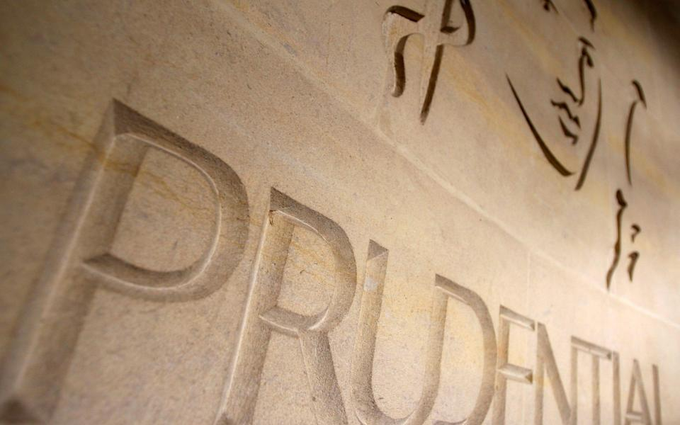 The logo of British life insurer Prudential is seen on their building in London - Stephen Hird/REUTERS