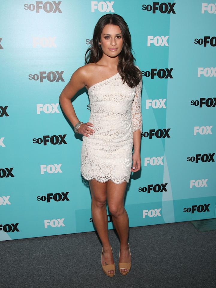 Lea Michele attends the 2009 Fox Upfront after party at the Wollman Rink in Central Park on May 18, 2009 in New York City.