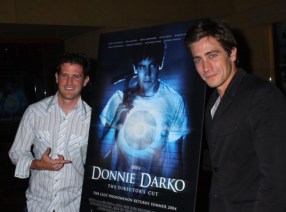 "Richard Kelly and Jake Gyllenhaal during American Cinematheque Presents The Los Angeles Premiere Of ""Donnie Darko: The Director's Cut"" Sponsored By Cinefantastique Magazine - After Party at Egyptian Theatre in Hollywood, California, United States. (Photo by Albert L. Ortega/WireImage for New Market Films)"