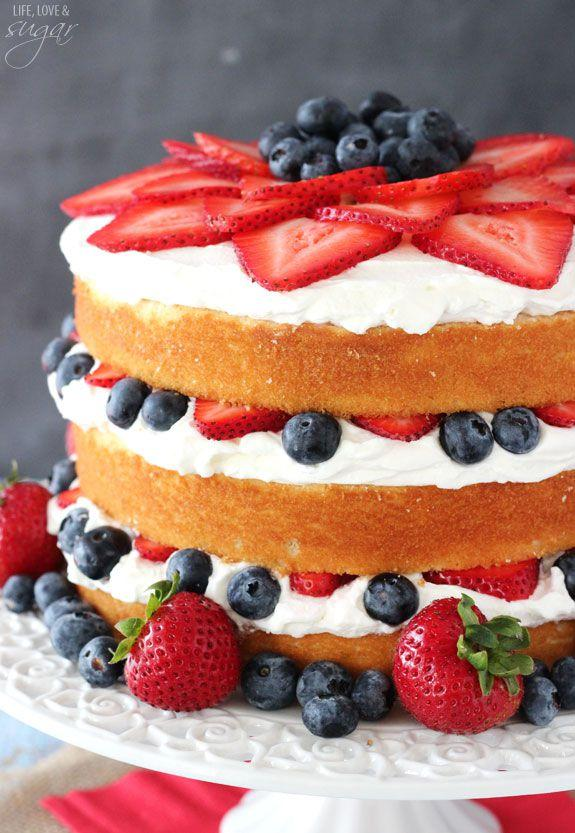 """<p>Need a Fourth of July dessert? This cake screams 'merica.</p><p>Get the recipe from <a rel=""""nofollow"""" href=""""http://www.lifeloveandsugar.com/2015/06/19/fresh-berry-vanilla-layered-cake/"""">Life, Love, and Sugar</a>.</p>"""