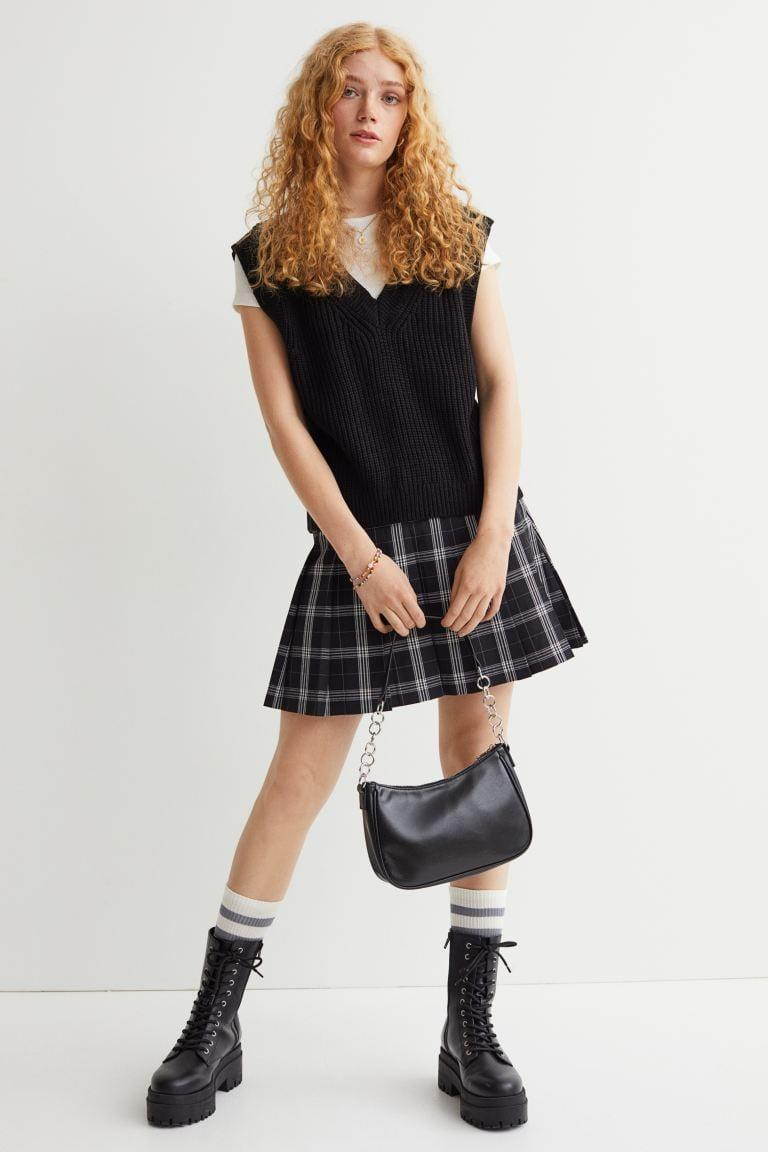 <p>This <span>H&amp;M Short Pleated Skirt</span> ($25) is nostalgic and adorable. Complete the look with a button down and sweater vest.</p>