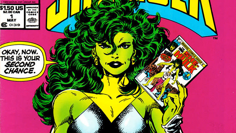 A 1989 issue of 'The Sensational She-Hulk'. (Credit: Marvel Comics)