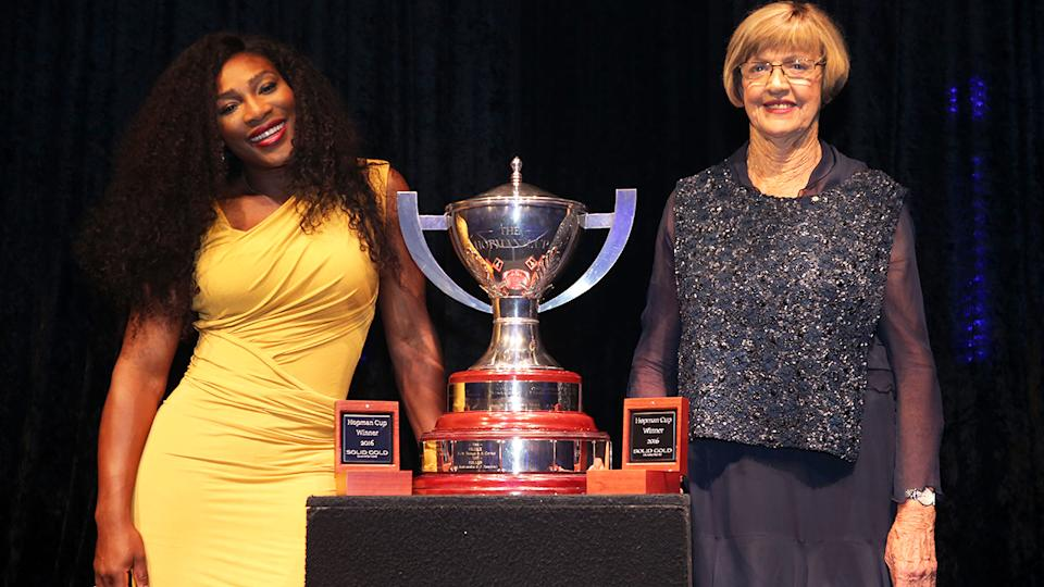 Serena Williams and Margaret Court, pictured here at the 2016 Hopman Cup Player Party.