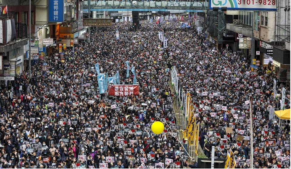 Anti-government protests rocked Hong Kong after breaking out last June. Photo: Nora Tam
