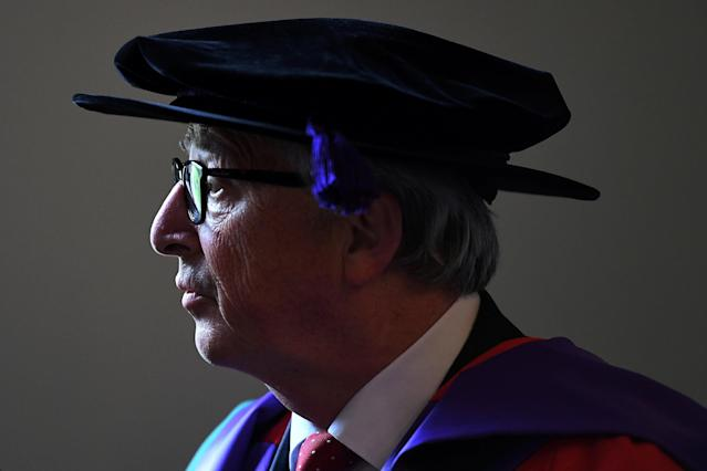 European Commission President Jean-Claude Juncker is conferred a degree of Doctor of Laws at the Royal College of Surgeons in Dublin, Ireland June 21, 2018. REUTERS/Clodagh Kilcoyne TPX IMAGES OF THE DAY