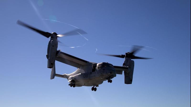 Recovery efforts continue off Queensland's coast for a downed US military aircraft.