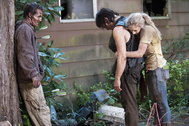 Norman Reedus and Emily Kinney in 'The Walking Dead' (Gene Page/AMC)