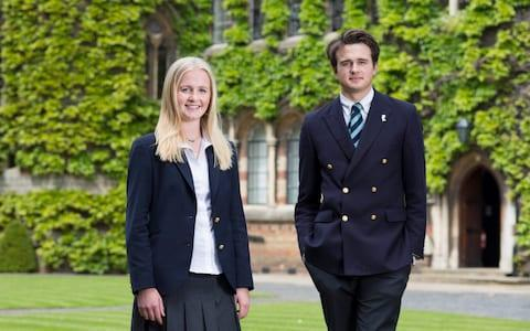 Lydia Norton and Rory Farquharson, head boy and girl at Rugby School, in 2016 - Credit: Andrew Fox