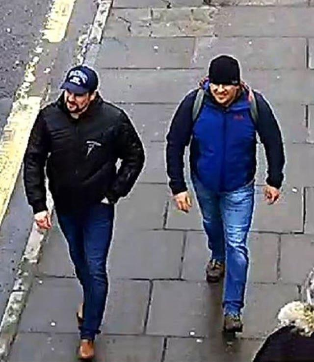 A CCTV image of the alleged suspects in the Salisbury poisonings