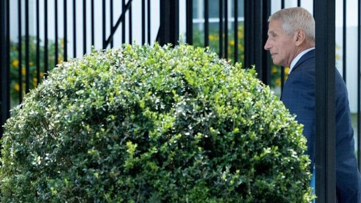 Dr. Anthony Fauci Arrives at White House